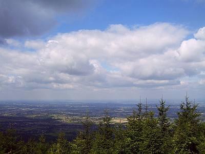 Widok ze szczytu Hrobaczej Łąki